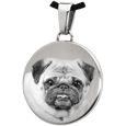 Stainless Steel Flat Round Pet Photo Jewelry