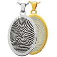 Wholesale B&B Oval Rim Fingerprint Jewelry in silver and gold