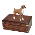 Wholesale Boxer Uncropped Figurine Urn with engraved front