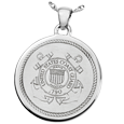 United States Coast Guard silver flat jewelry