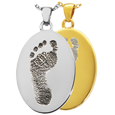 Wholesale B&B Flat Oval Footprint Jewelry in silver and gold