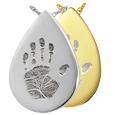 Wholesale B&B Teardrop Handprint Jewelry in silver and gold