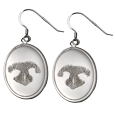 Wholesale Pet Print Jewelry: Sterling Silver Earrings- Noseprints