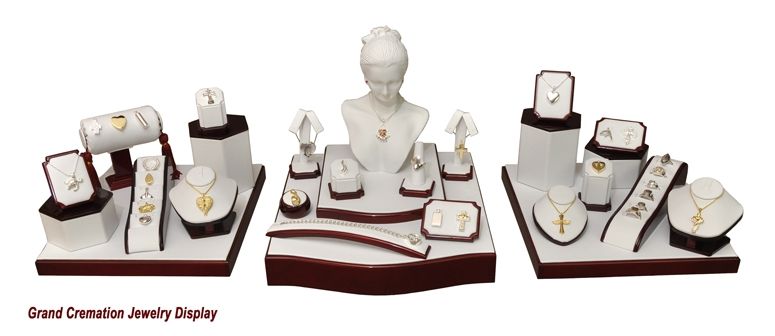 Grand Cremation Jewelry Display
