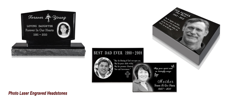 Photo Laser Engraved Headstones