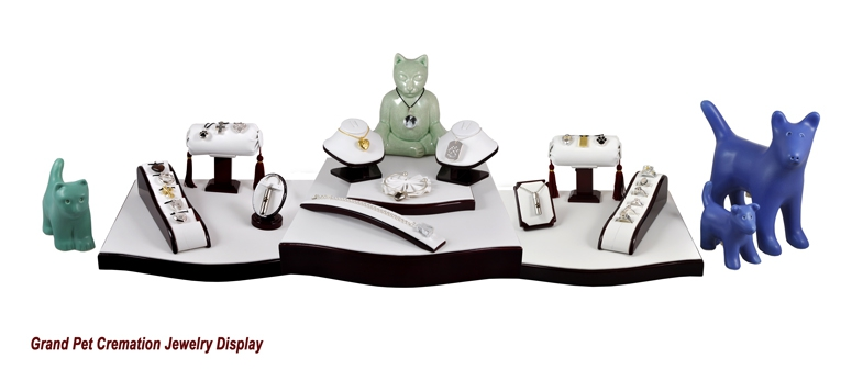 Grand Pet Cremation Jewelry Display